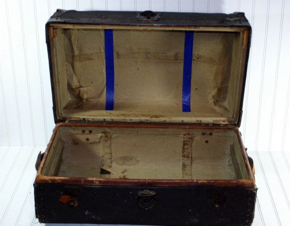 Vintage Suitcase / Vintage Trunk by HuntandFound on Etsy, $64.00