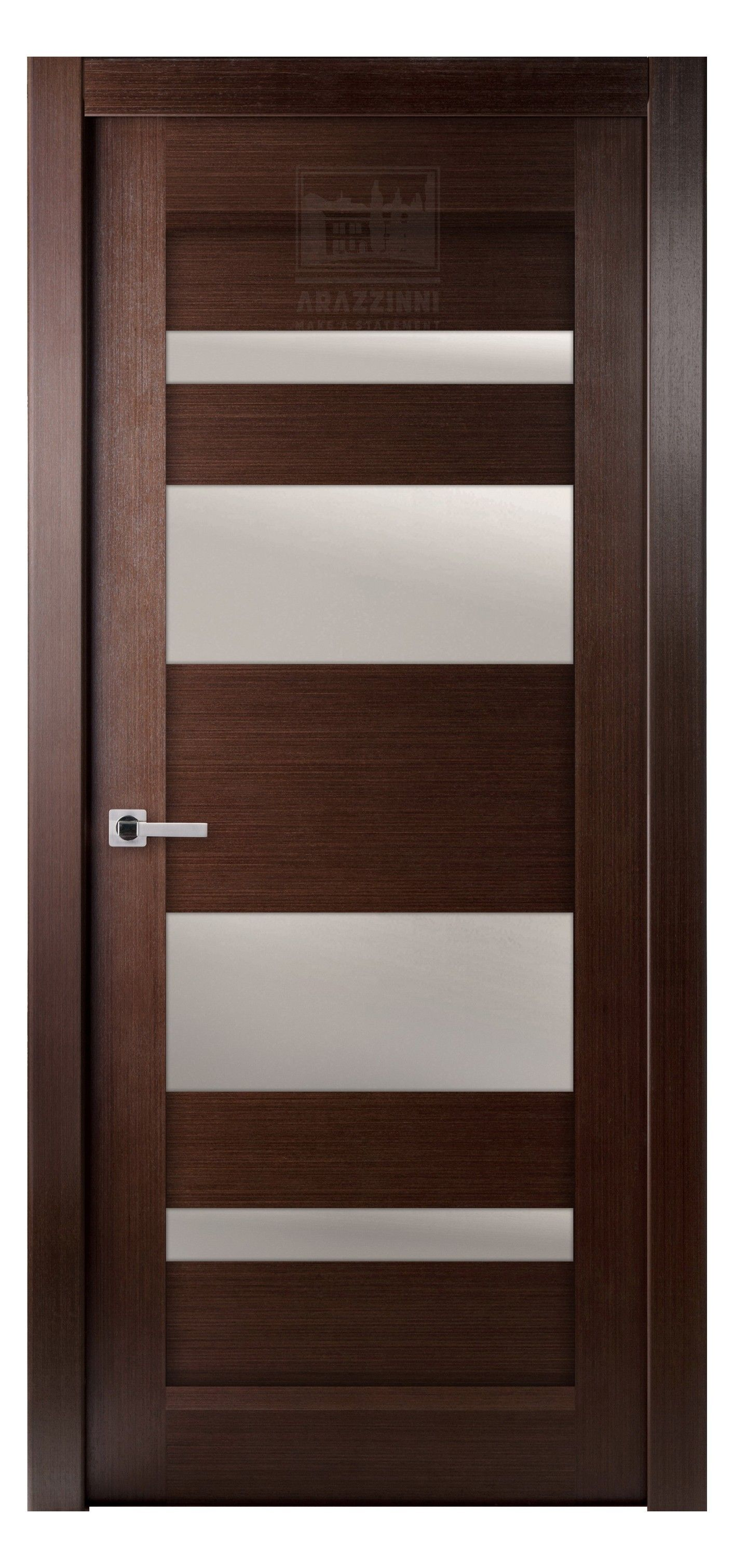 Mirella Vetro Interior Door Wenge | Wood doors interior