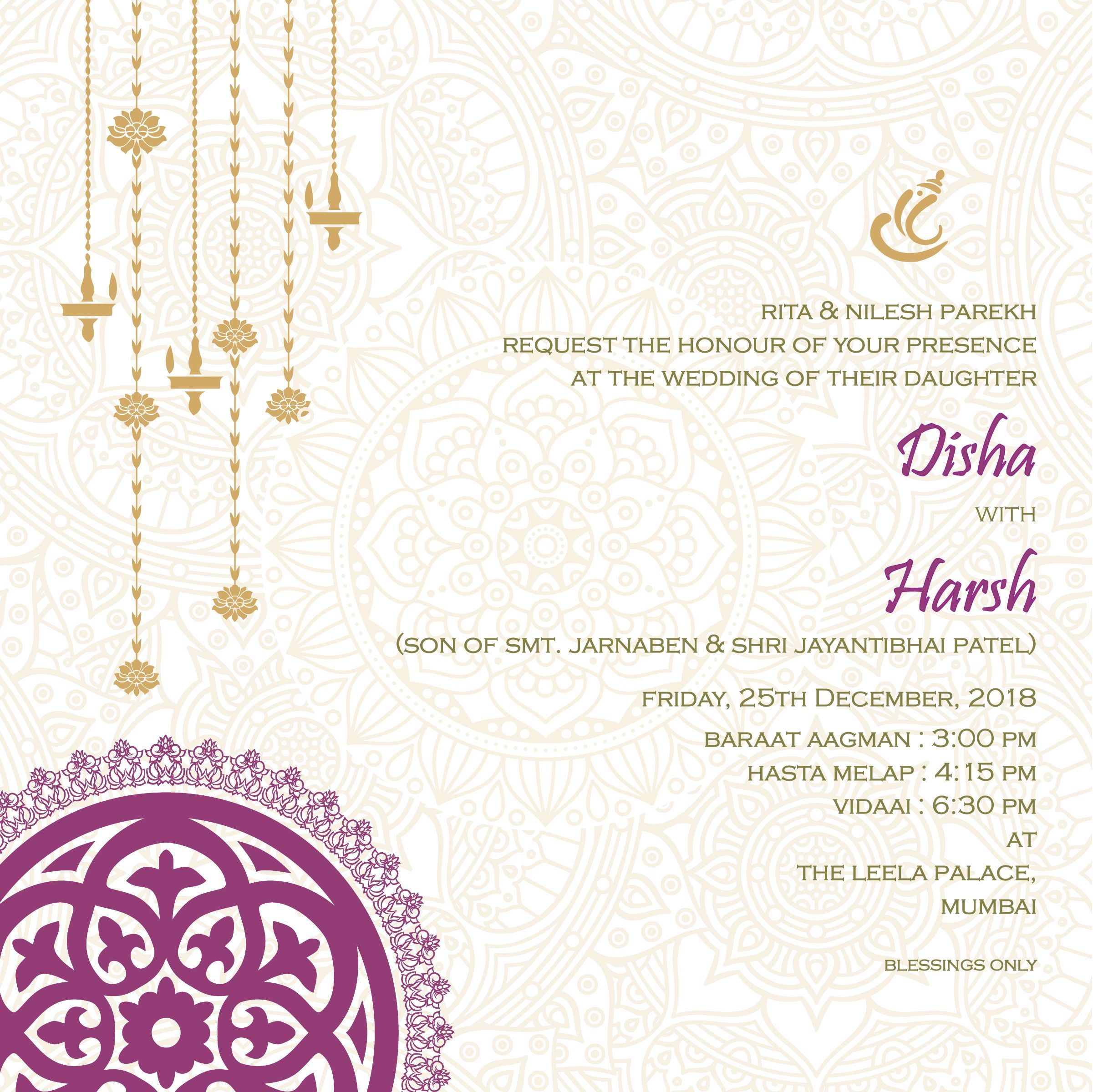 Wedding invitation cards, Indian wedding cards, invites, Wedding Stationery,  E-invite, E-i… | Simple wedding cards, Indian wedding cards, Modern wedding  invitations