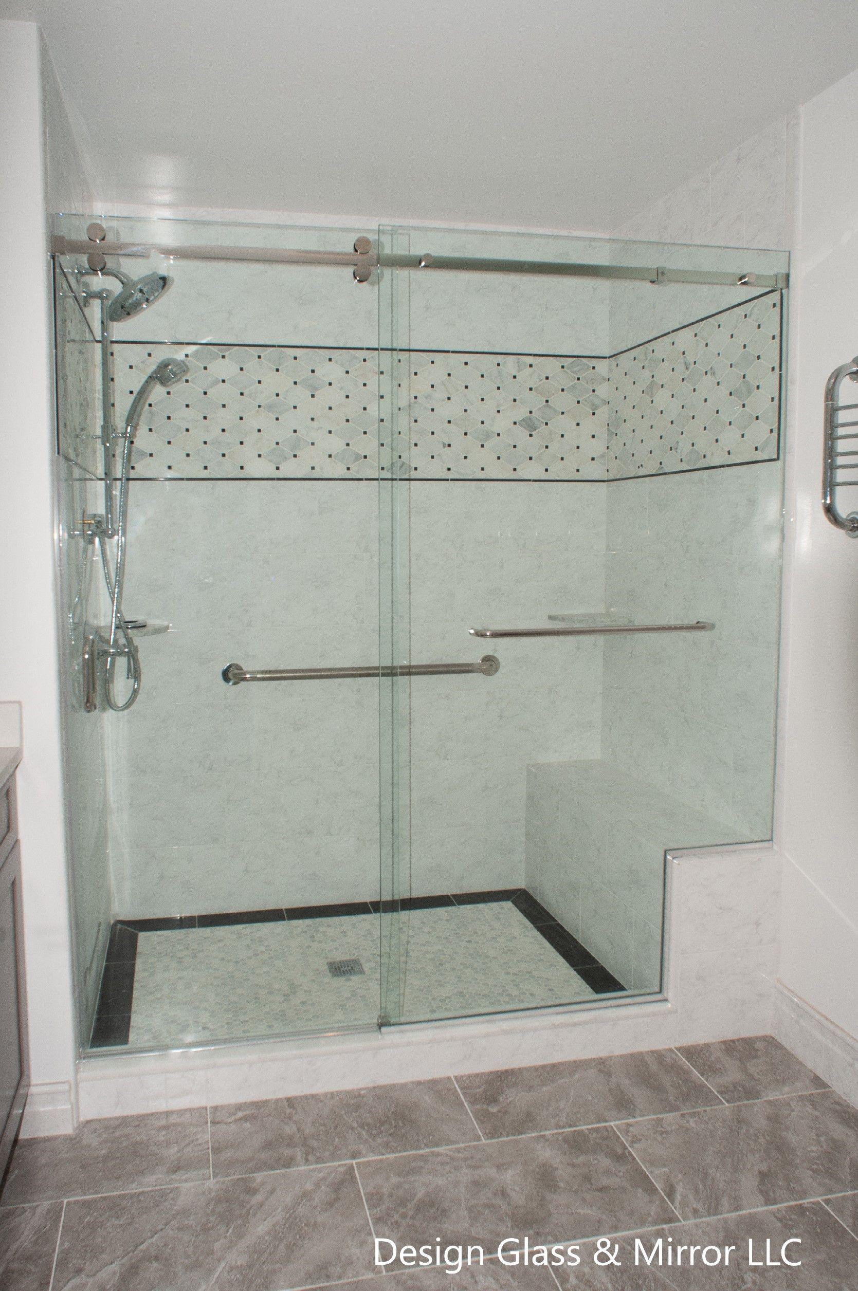 Pin By Design Glass Mirror Llc On Sliding Shower Door Shower