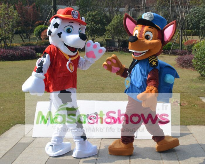 achat costume de macotte le paw patrol chase d guisement mascotte costume de pat patrouille. Black Bedroom Furniture Sets. Home Design Ideas