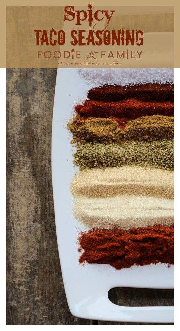 Smoky, garlicky, Spicy Taco Seasoning Mix is distinctive, delicious, and more complex than commercially available mixes in addition to being far more economical than the little packets at the store. #maketacoseasoning