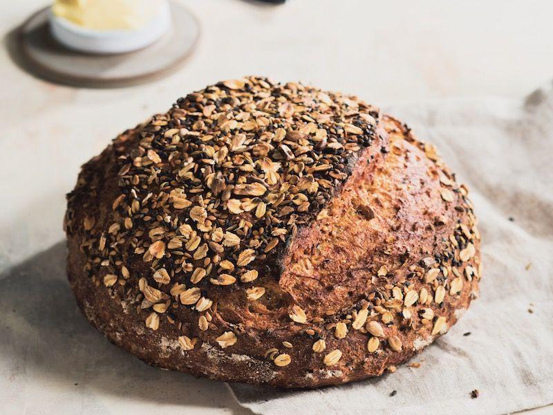 Multigrain Dutch Oven Bread | Recipe (With images) | Dutch ...