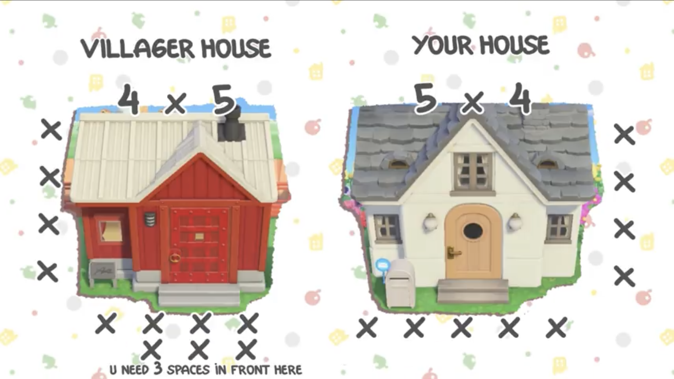 Housing Hole Measurements New Animal Crossing Animal Crossing Animal Crossing Villagers