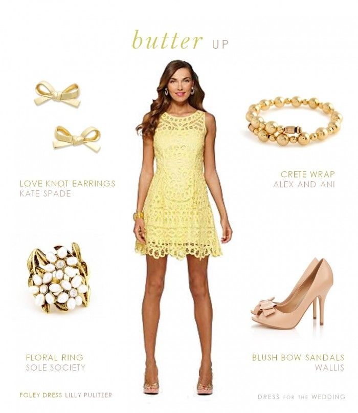 c444da29db Yellow Lace Dress for a wedding guest or bridal shower