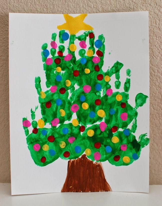 Wonderful Christmas Craft Ideas For Kindergarten Part - 13: Christmas Handprint Crafts For Toddlers - Find Craft Ideas