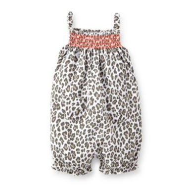 84fea037064e Carter's® Smocked Leopard Romper - Baby Girls newborn-24m found at @JCPenney