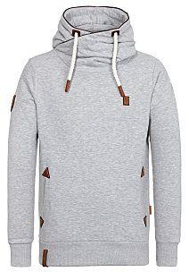 NAKETANO Schwarzkopf IV Hooded Jacket for Men Blue Mens