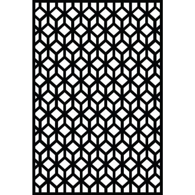 Matrix Riverbank 0 3 In X 71 In X 2 95 Ft Charcoal Recycled Plastic Decorative Fence Panel Screen In 2020 Decorative Screens Decorative Fence Panels Pergola Designs