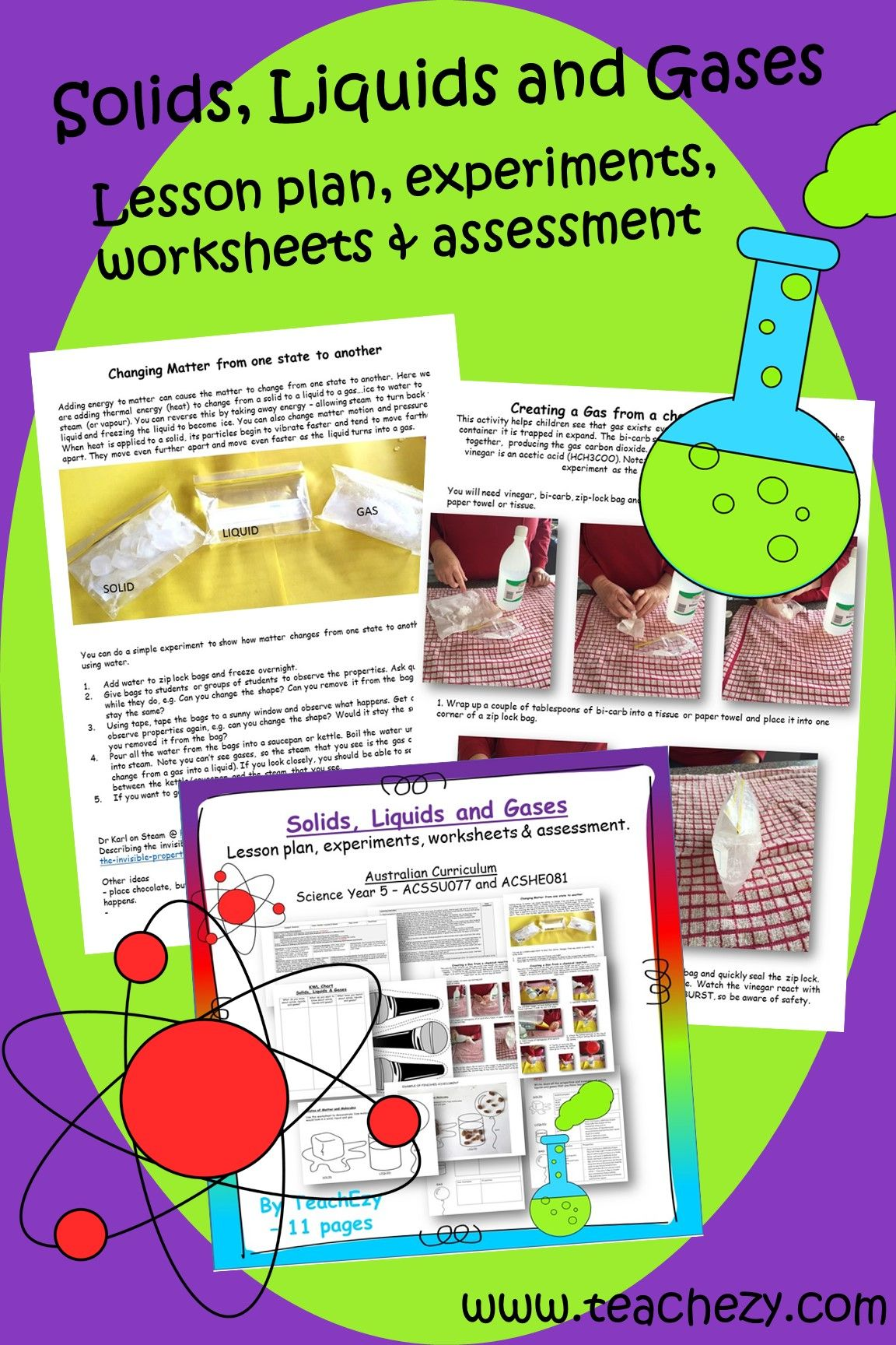 Solids Liquids And Gases Lesson Activities And
