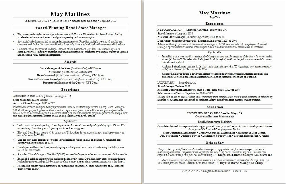 23 Resume Summary Examples for Retail Management in 2020