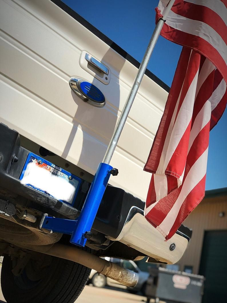 Flag Holder Trailer Hitch Cover Custom Color Etsy In 2020 Flag Holder Trailer Hitch Cover Trailer Hitch