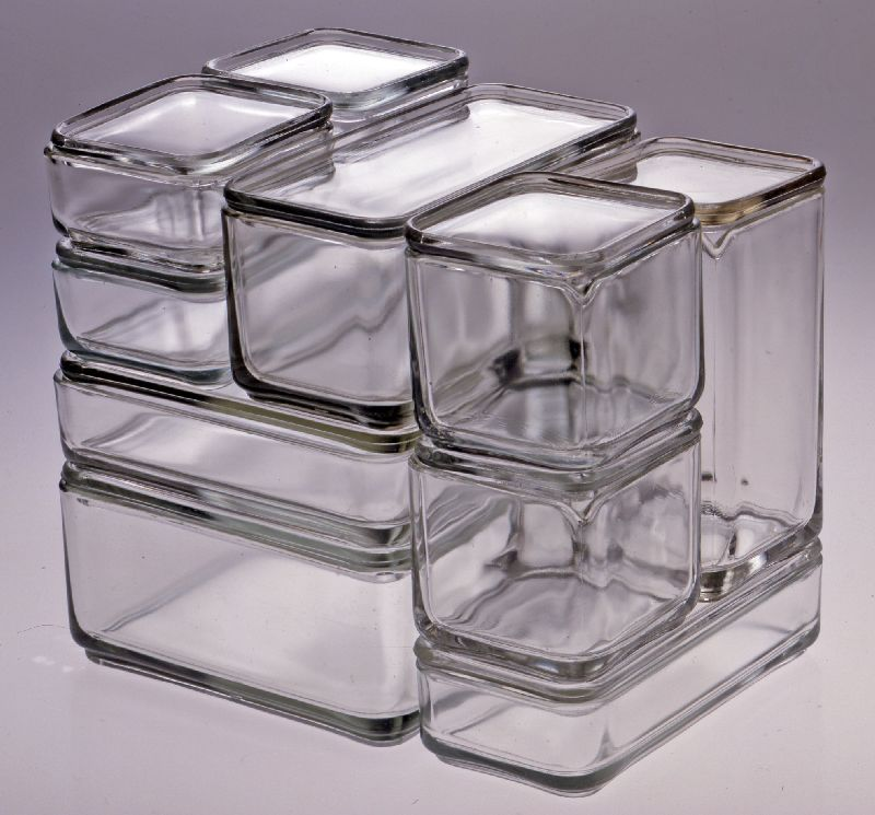 Wilhelm Wagenfeld Kubus Cube Container 1938 Glass Storage Containers Glass Storage Bauhaus