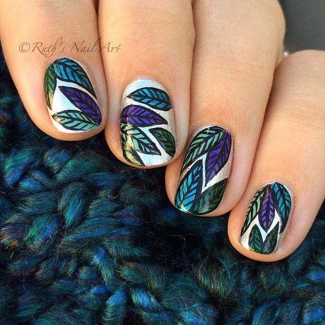 Leaf Nails #ruthsnailart #nailart