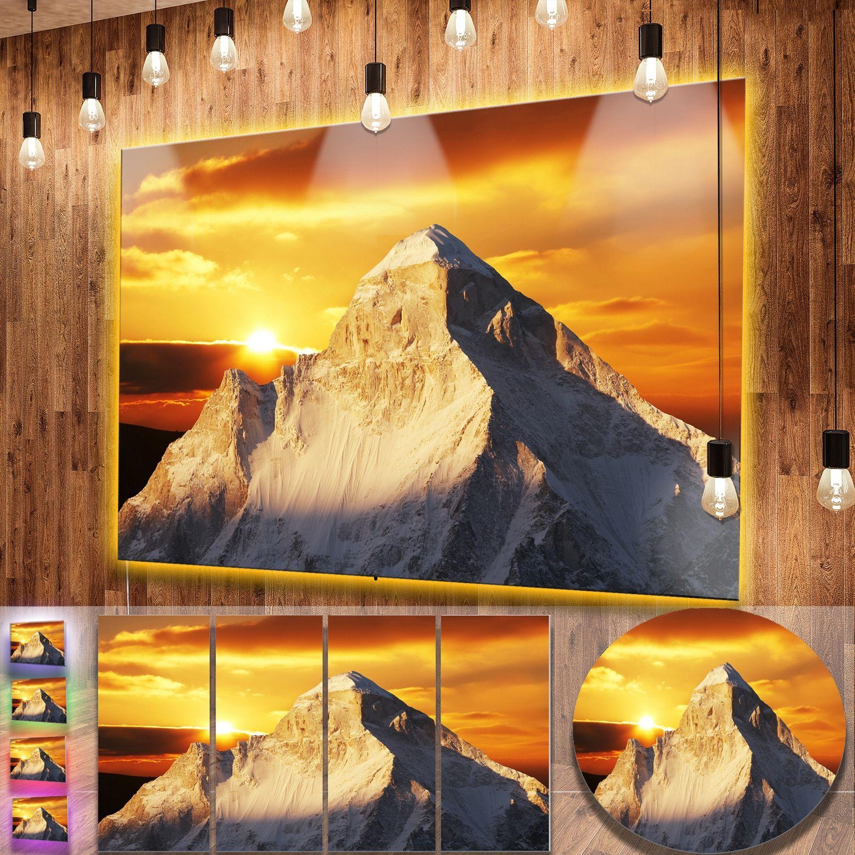 Designart \'Shivling Garhwal Himalaya At Sunset\' Landscape Metal Wall ...