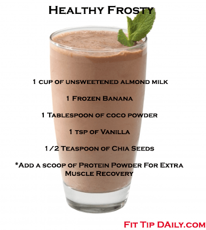 Sometimes eating healthy can get hard. There are times when all you want is something chocolate and sweet! Sure you could go to Wendy's but we all know it's loaded with sugar and fat. This is the Fit Tip Daily Way to make a healthy frosty ! Healthy Frosty Ingredients 1 cup of … #healthychocolateshakes