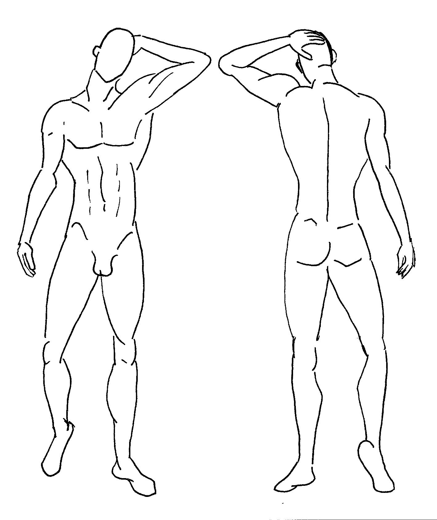 croquis template male - Google Search
