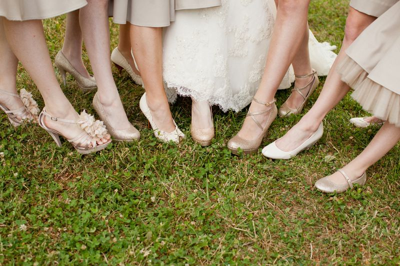 Her Stitions For Shoes Were To Be Neutral Gold Or Champagne Heel Flat Dressy Sandal