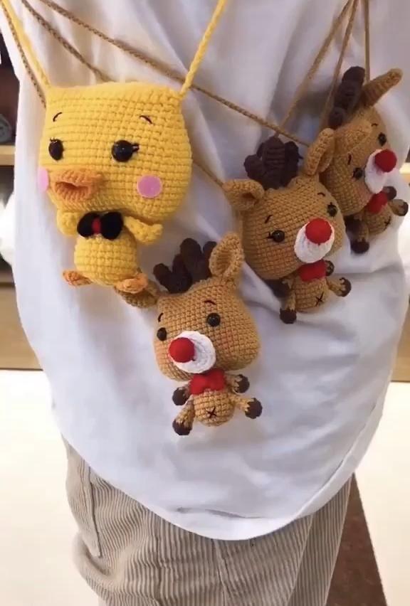 Crochet crossbody bagsAmigurumi bagscrochet bagHan