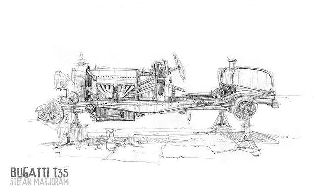 Bugatti T35 no body 1s by Stefan Marjoram, via Flickr