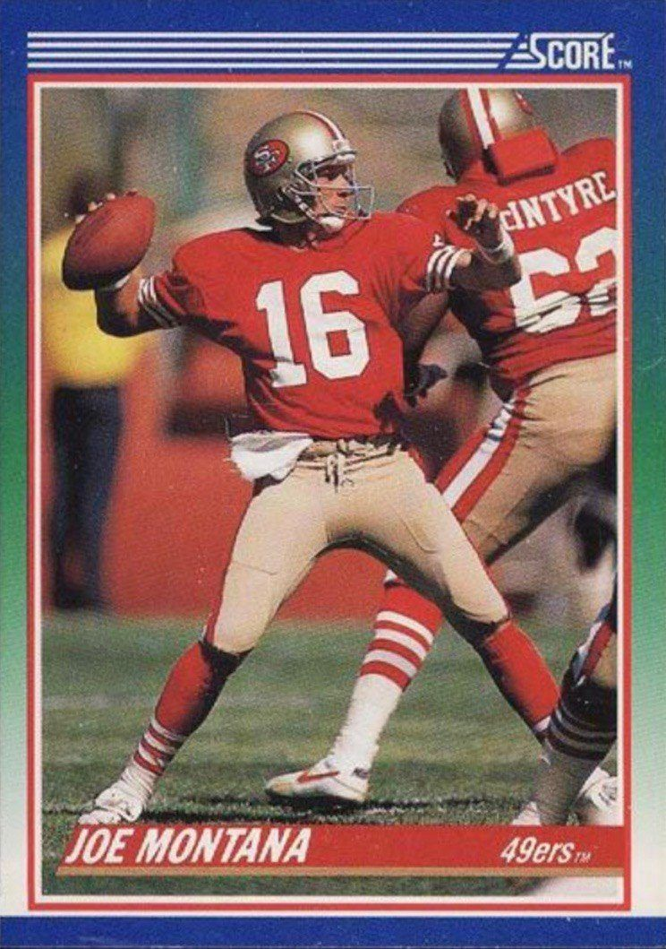 1990 Score 1 Joe Montana Football Card In 2020 Football Cards Joe Montana Montana Football