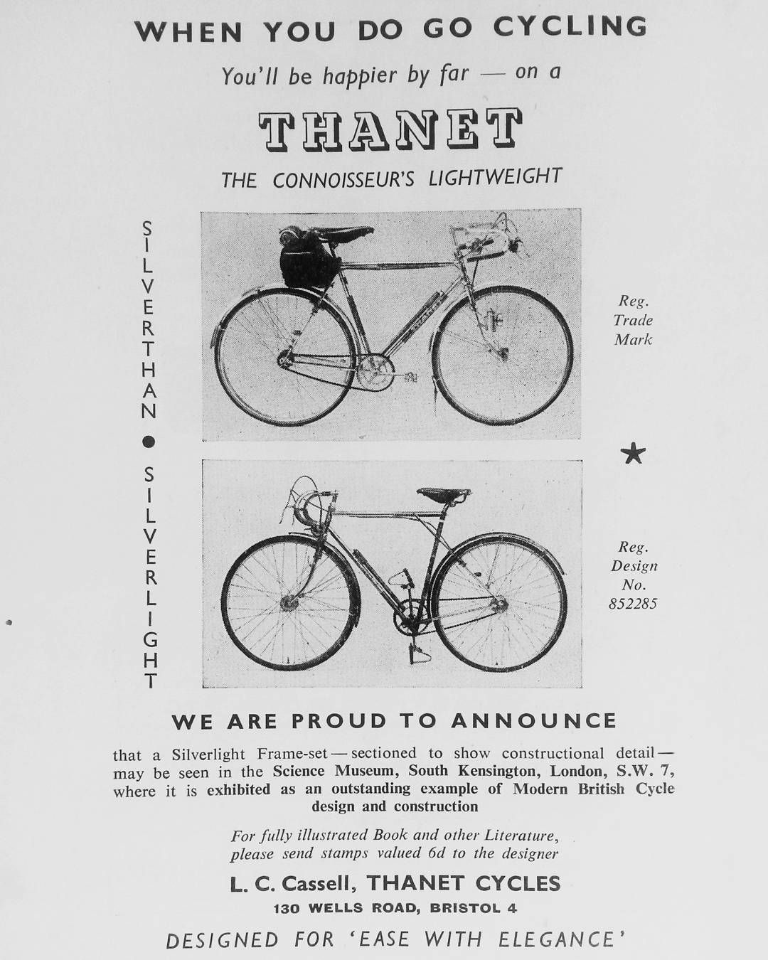 Thanet Cycles Ad 1950 Thanetcycles Retrocycling Vintagecycling