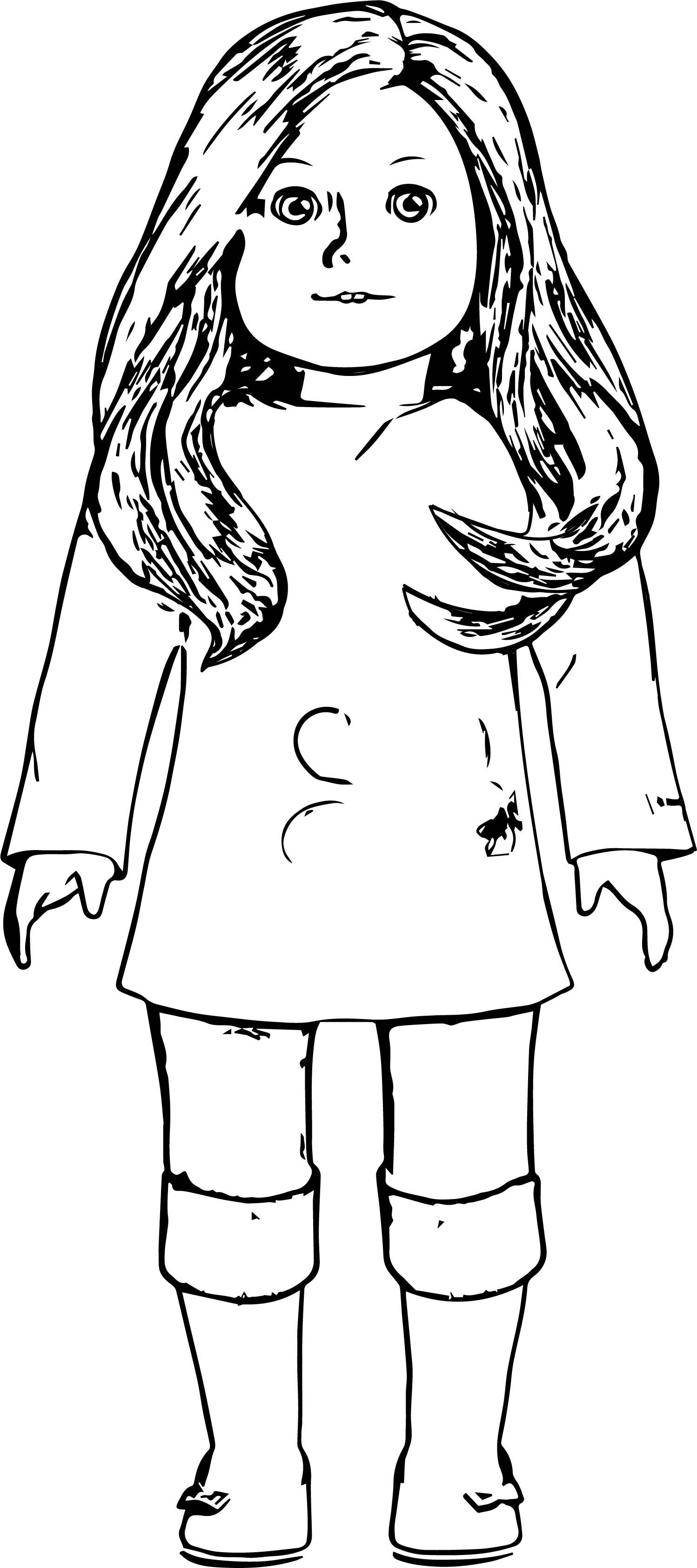 American Girl Coloring Page American Girl Printables American