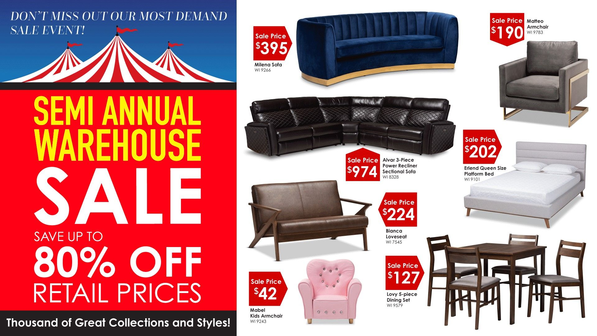 Semi Annual Warehouse Sale Warehouse Sales Chicago Furniture Mattress Store