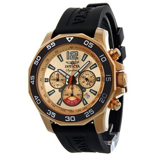 Invicta Signature II Nautical Chronograph Rose Gold-Tone Mens Watch 7432 Invicta. $104.99