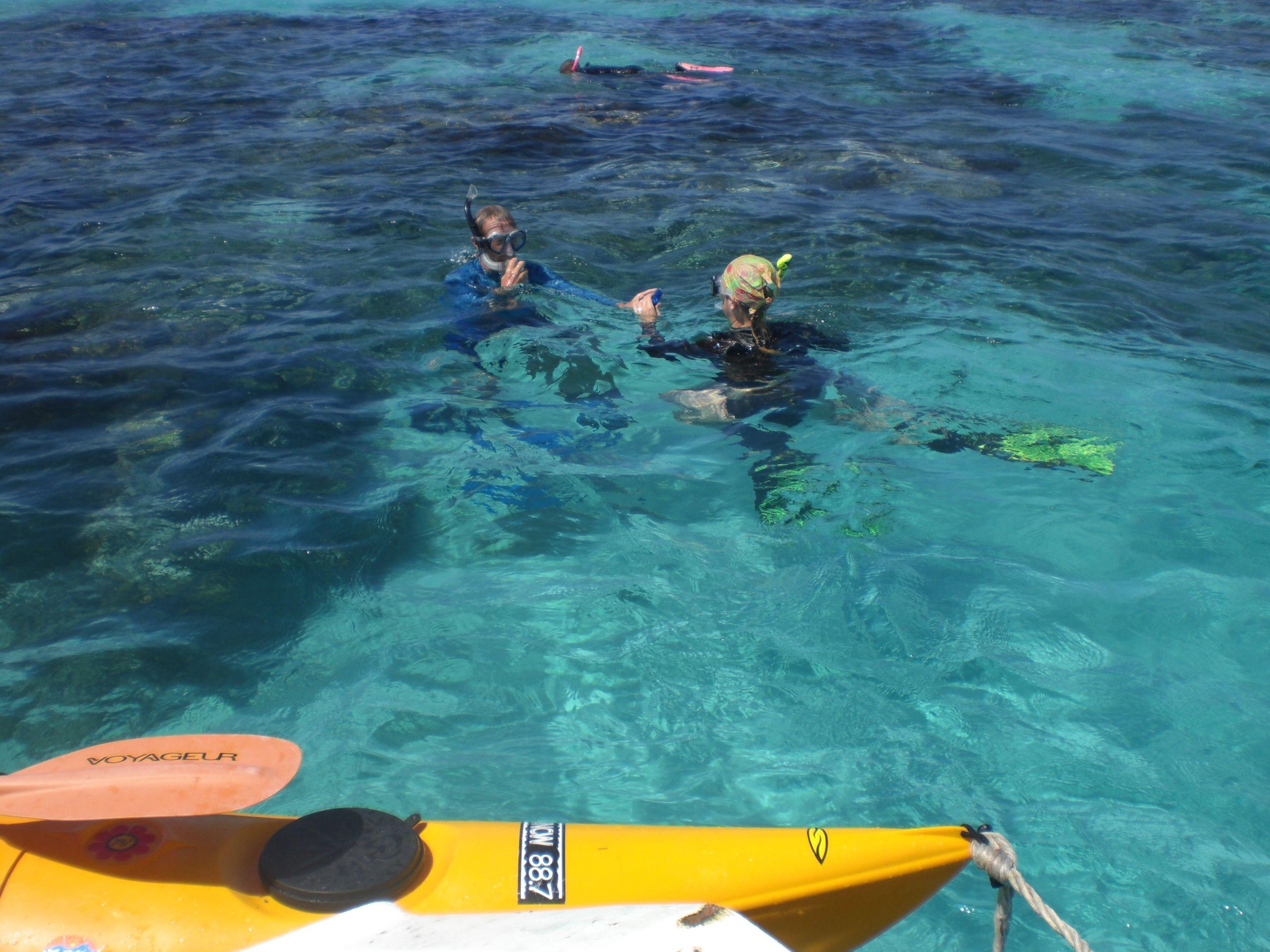 Snorkeling and kayaking fun!
