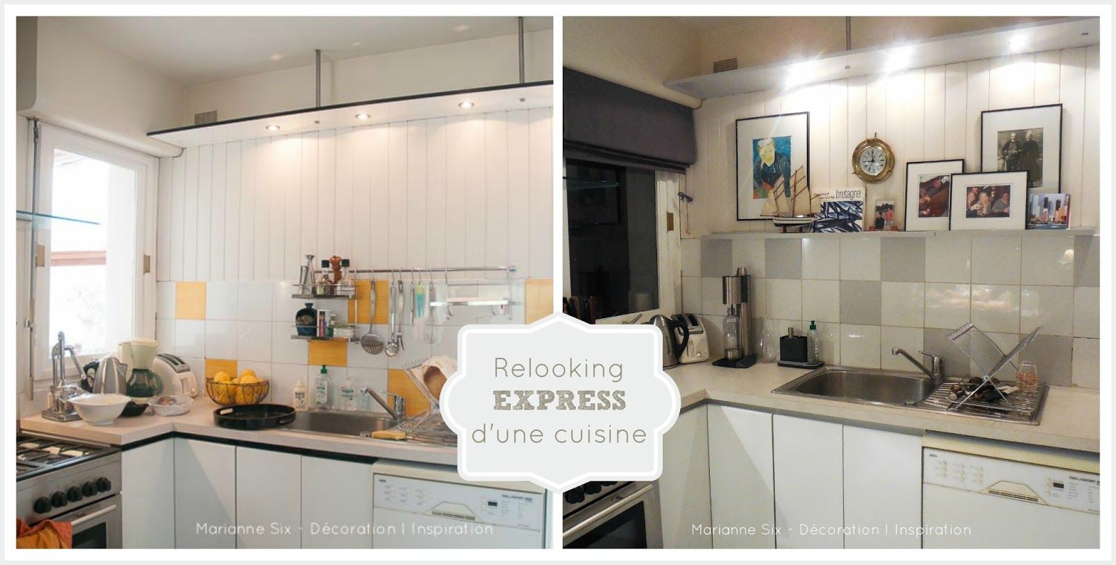 Relooking express d 39 une cuisine peinture v33 mom 39 s kitchen mini ma - Peinture v33 relooking ...
