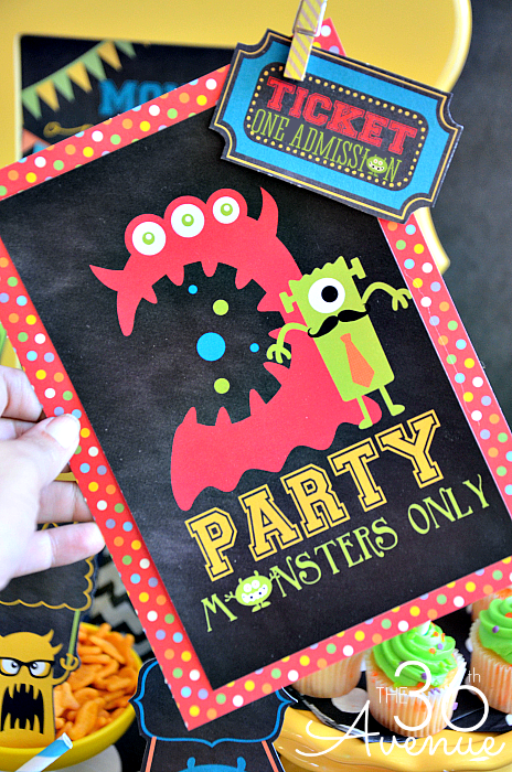 Monster Party and Free Printables – Monster Party Invites