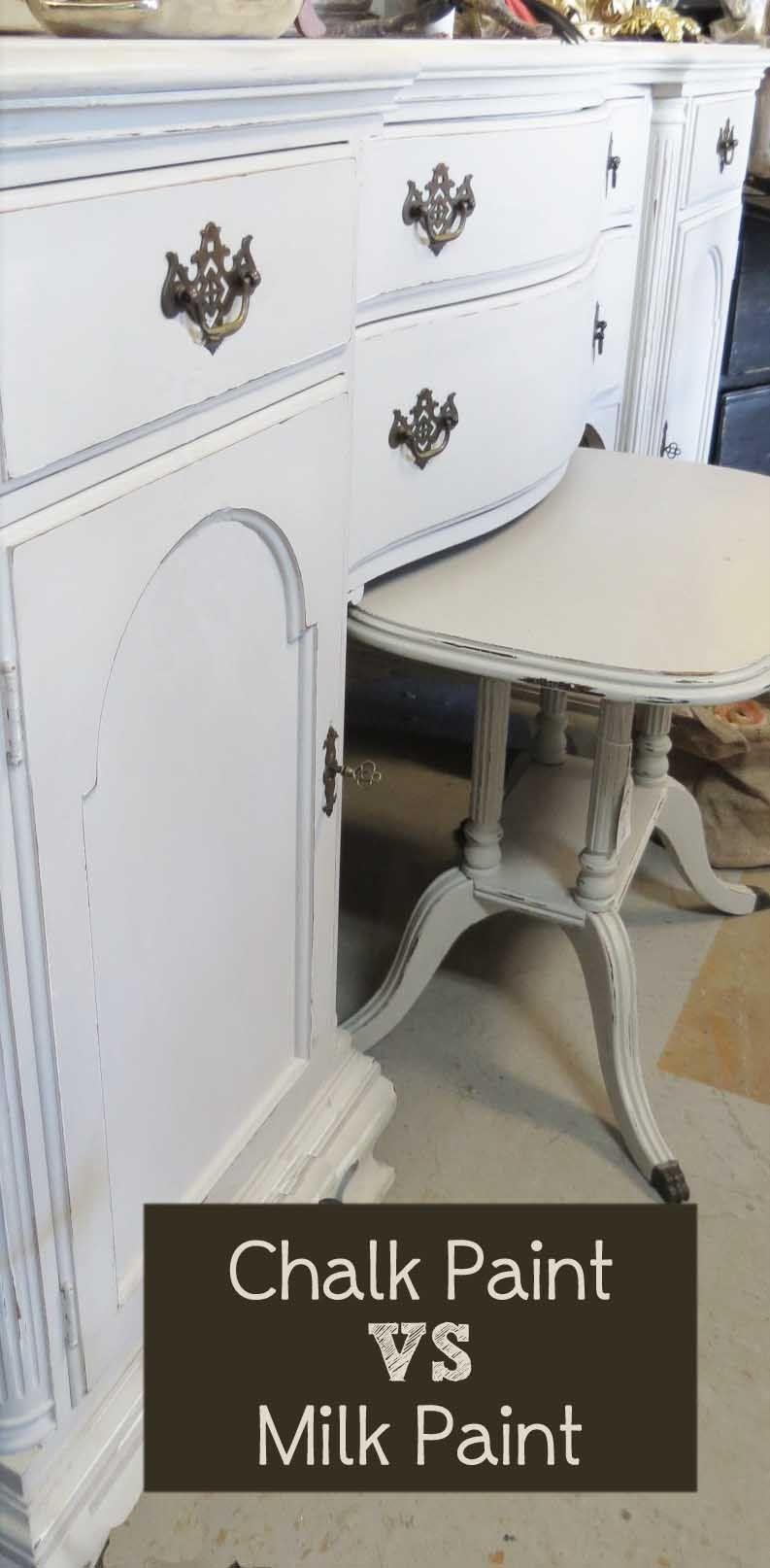 Chalk Paint Vs Milk Paint Painted Furniture Ideas Chalk Paint Vs Milk Paint Chalk Paint Vs Painted Furniture