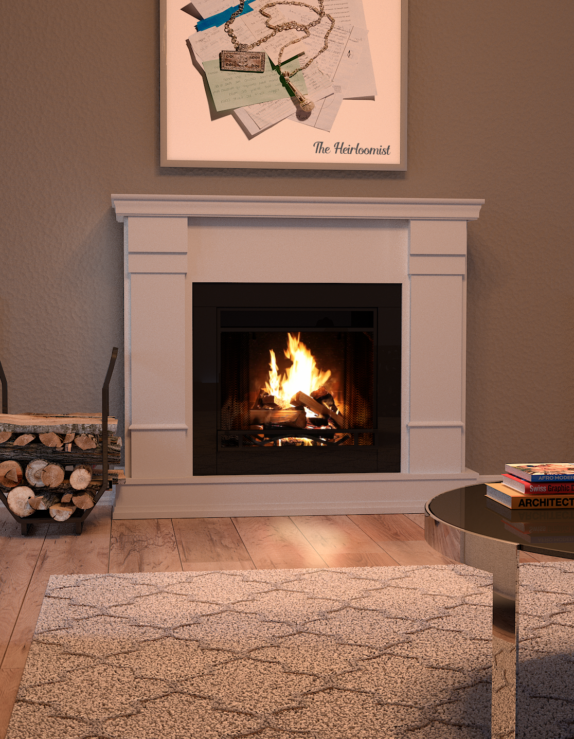 Curb Key Lowes : lowes, Flame, 48-in, White, Electric, Fireplace, Lowes.com, Fireplace,, Home,, Remodel