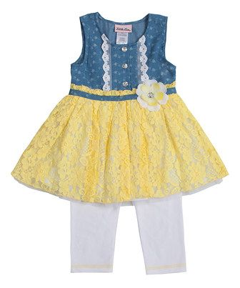 Yellow and blue toddler dress
