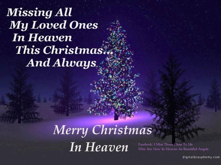 merry christmas in heaven i miss you so much - Merry Christmas In Heaven