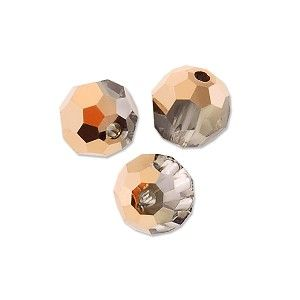 RB6104 - Swarovski 5000 6mm Crystal Rose Gold Round Bead (1-Pc) - Only at... JewelrySupply.com