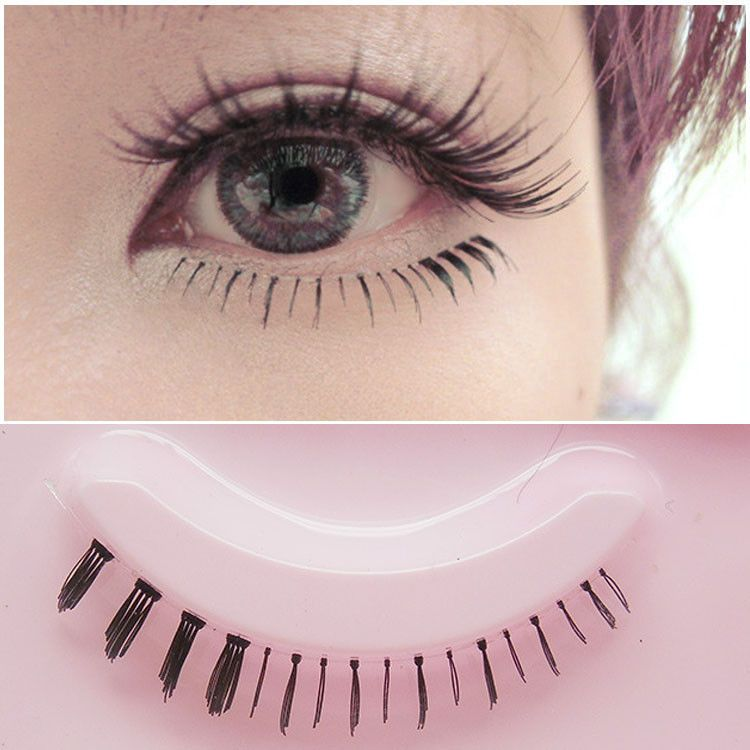 9056314b7d2 5 Pairs Cosplay Lower Under Bottom Fake False Eyelashes Cross Eye Makeup  Lashes#Fake#