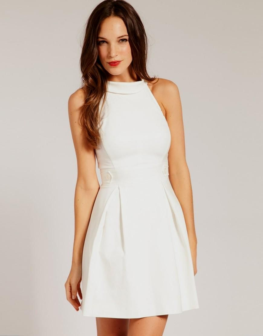 Modest White Confirmation Dresses for Juniors  Casual white dress