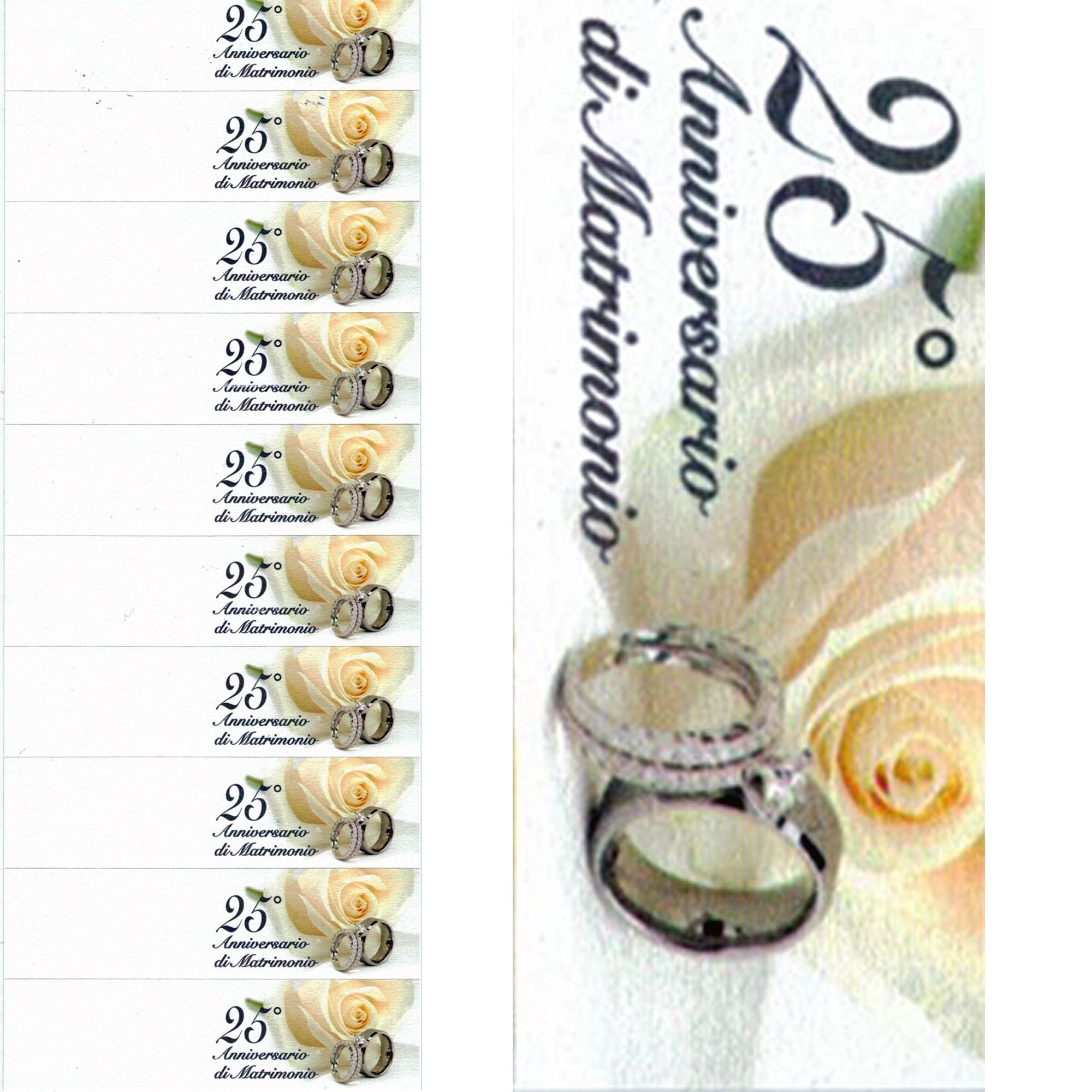 100 Bigliettini Bomboniere 25 Anniversario Matrimonio Nozze Stampabili Pretagliati Oro 2 80 Bomboniere Nozze Etichette Stampabili Gratuite