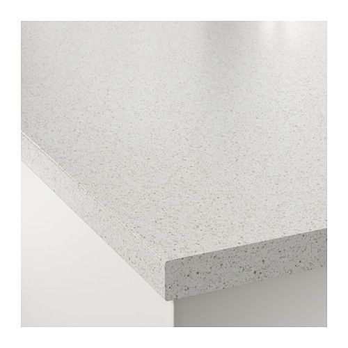 Ikea Kitchen Quartz Countertops Reviews: SÄLJAN Bänkskiva, Vit Stenmönstrad In 2019