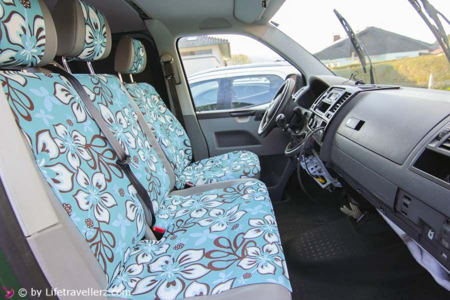 VW T5 Ausbau - Teil 8 - Autositze im VW Bus neu beziehen | Bulli ...