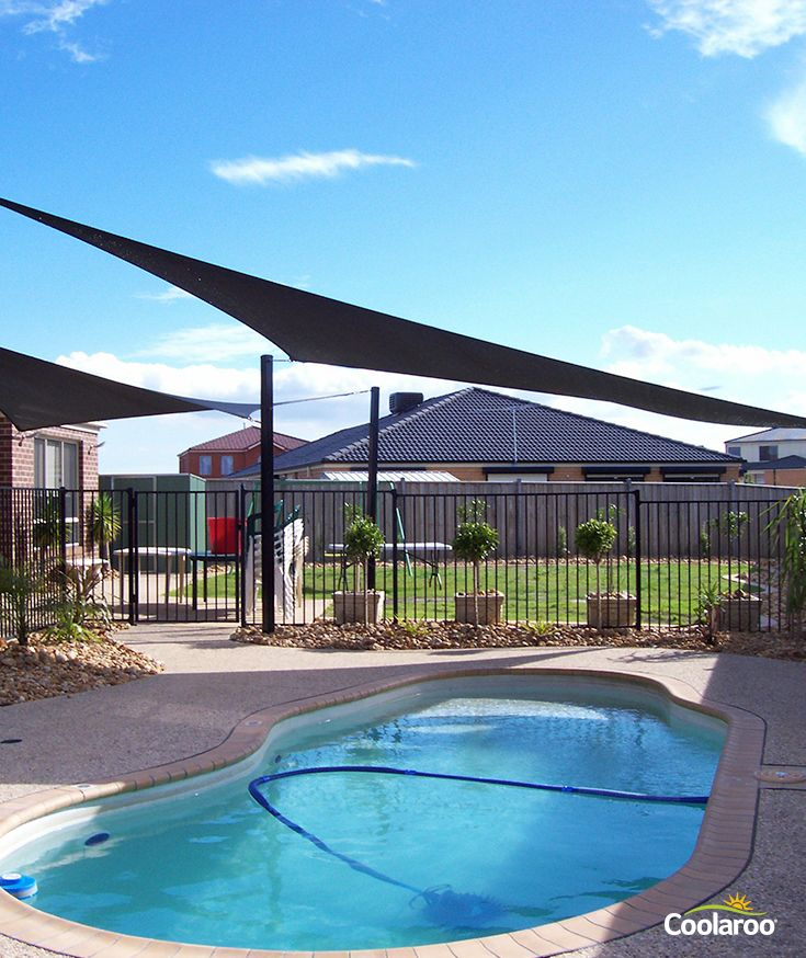 Improve Your Outdoor Pool Area With These Beautiful Shade Sails From Coolaroo