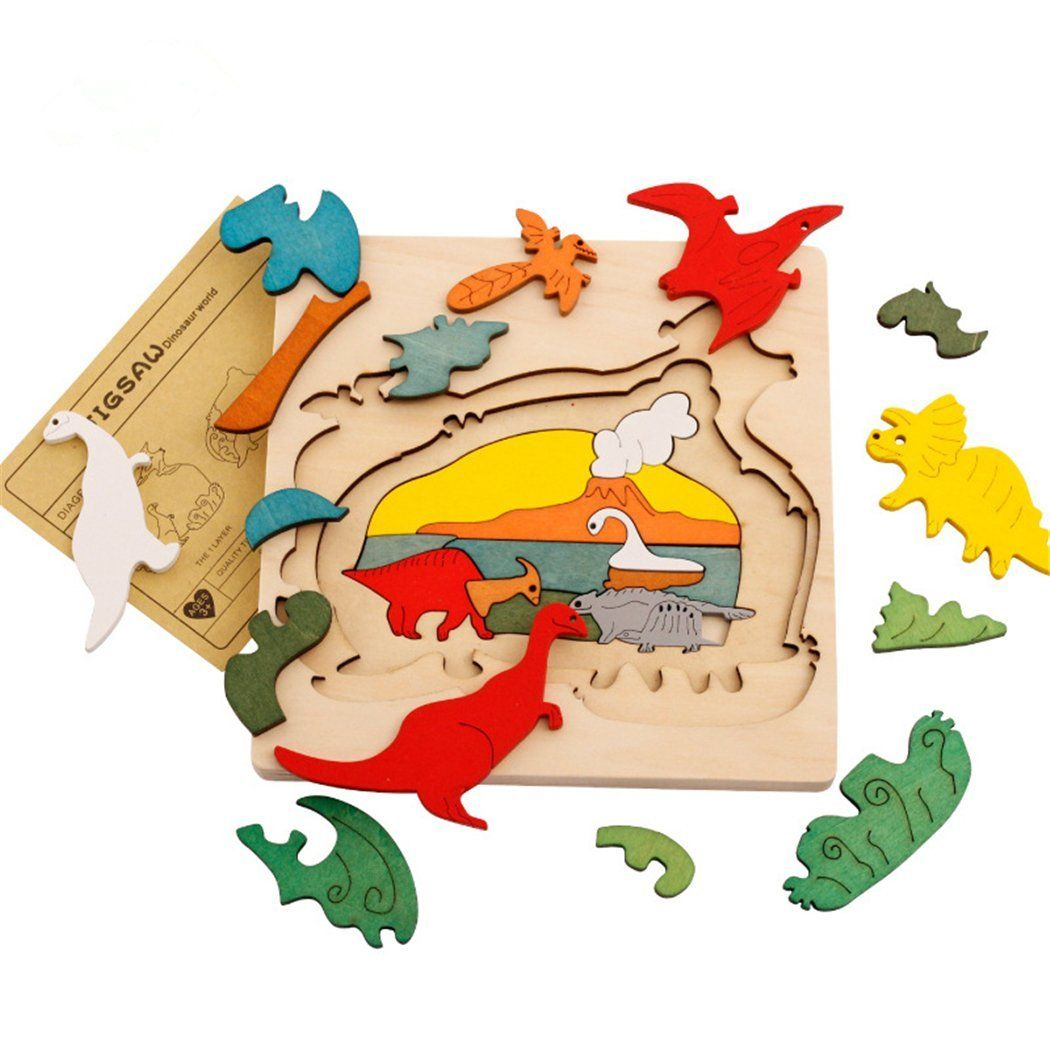 Creative Wooden Toys Kids Cartoon Puzzle Jigsaw Toy Learning Educational Toys
