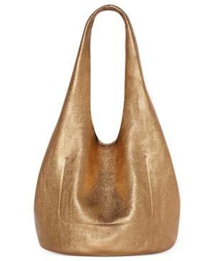 Metallic bag ... a stylish choice.