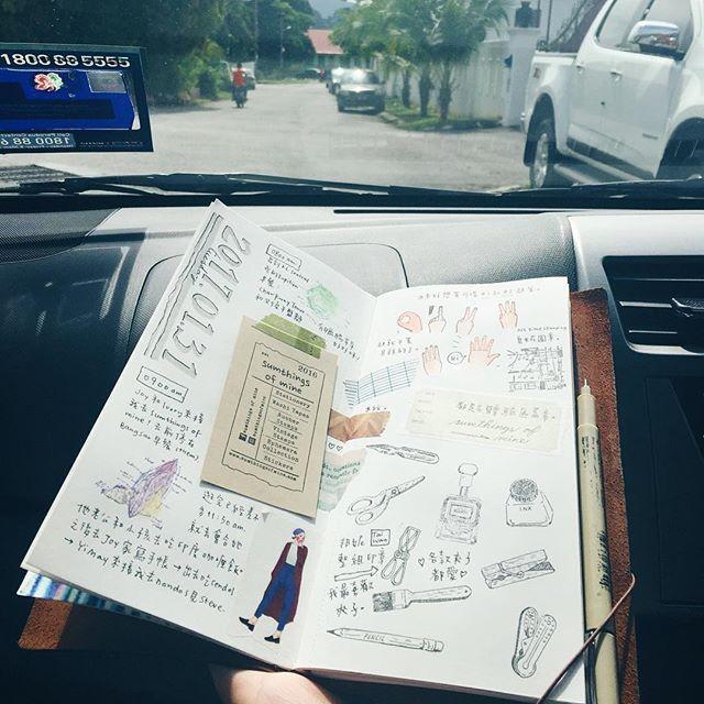|#🌴🌴🌴| 兩個半小時由吉隆坡去怡保,再喺怡保塞40分鐘車。搭車畫畫,塞車畫畫。 🚗 多得旅伴肯揸足全程 (仲有多得UBER)😌😌😌