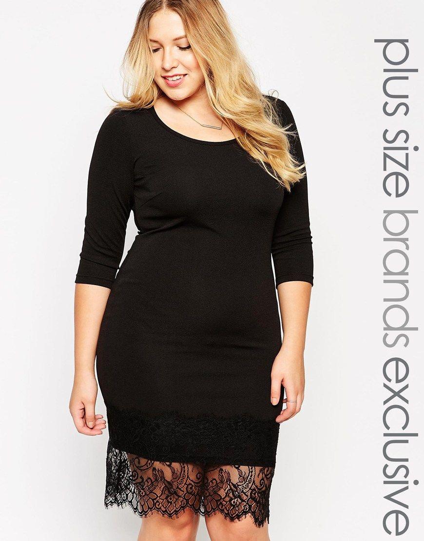 e5060e689f1534 Junarose Lace Hem Dress   Clothing   Dresses, Dress skirt, Curvy dress
