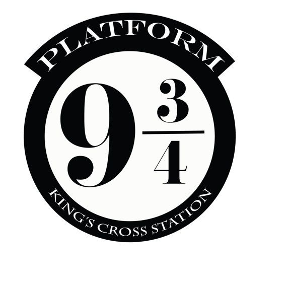 10 Inch Tall Assorted Wall Decal Harry Potter Platform 9 34 Kings