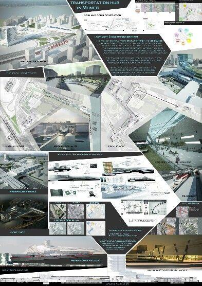 Architecture graduation transportation hub architectural for Architecture projet