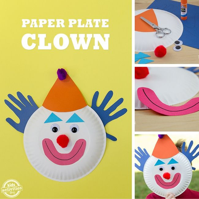 Paper Plate Clown  sc 1 st  Pinterest & Paper Plate Clowns | Craft